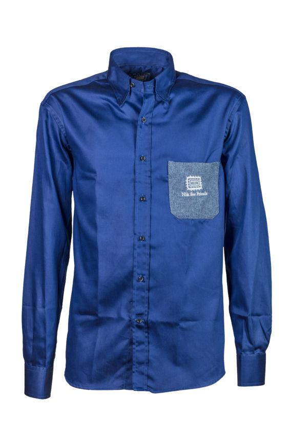 Camicia-Nik diamante blu